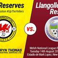 New Brighton Villa Reserves 3 v 0 Llangollen Town Reserves
