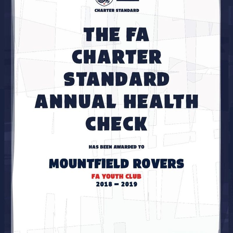 Mountfield maintain FA Charter Standard accreditation