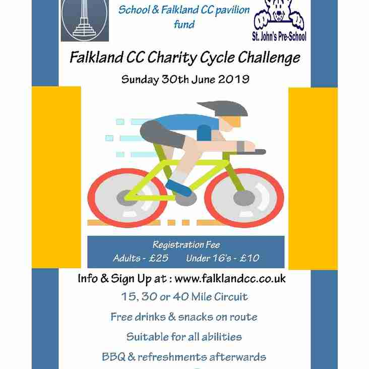 Falkland CC Charity Cycle Challenge 2019