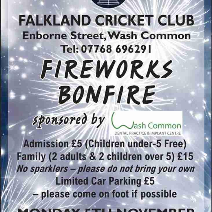 Fireworks at Falkland!