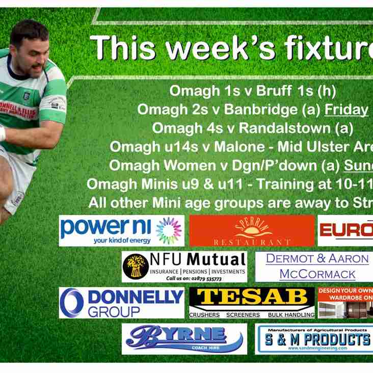 Club Rugby Preview 14th April 2018