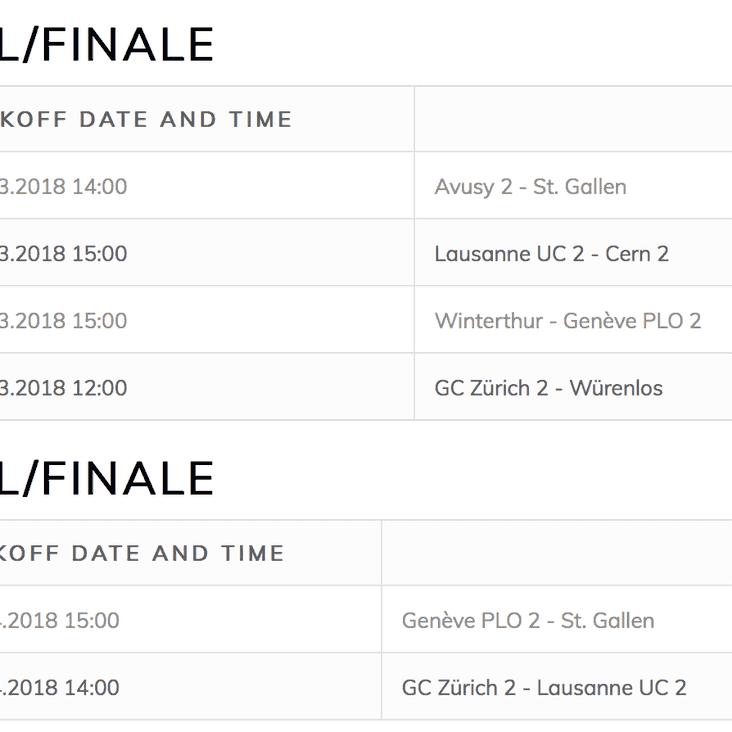 FSR Cup Semi Final