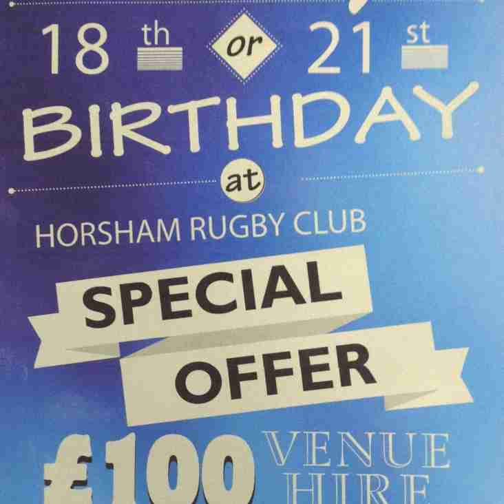 18th and 21st Birthday's Special Offer