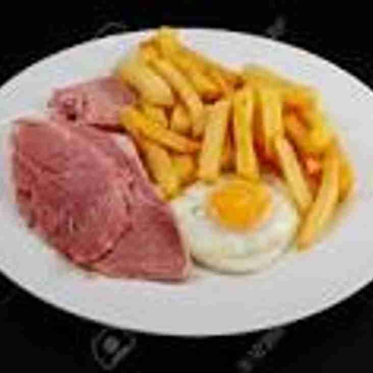 Pre-match lunch before Horsham v Crowborough - February 11th