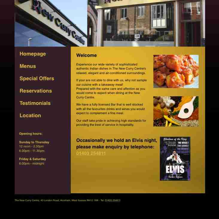New Curry Centre and Haldi Restaurants - renew sponsorship