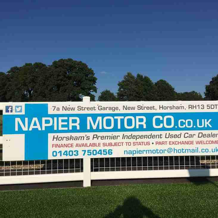 Napier Motor Company renew sponsorship