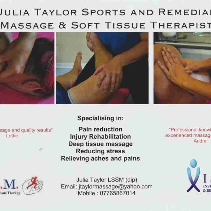Jules Taylor Sports and Remedial Massage