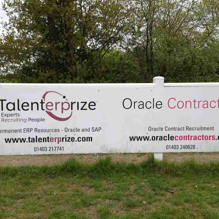 Oracle Contractors and Talenterprize - renew sponsorship