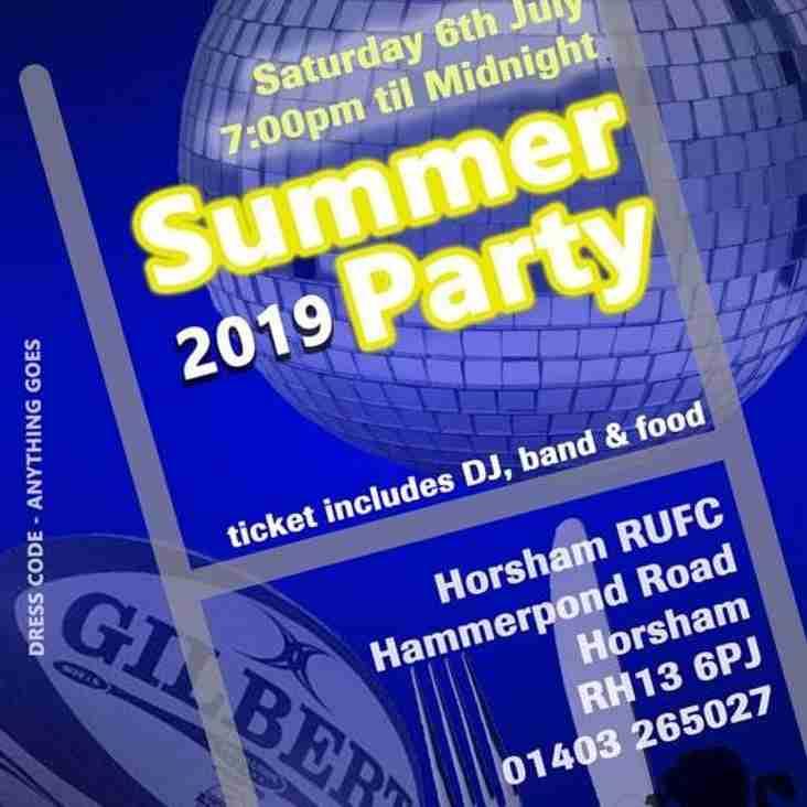 Horsham Rugby Club Summer Party