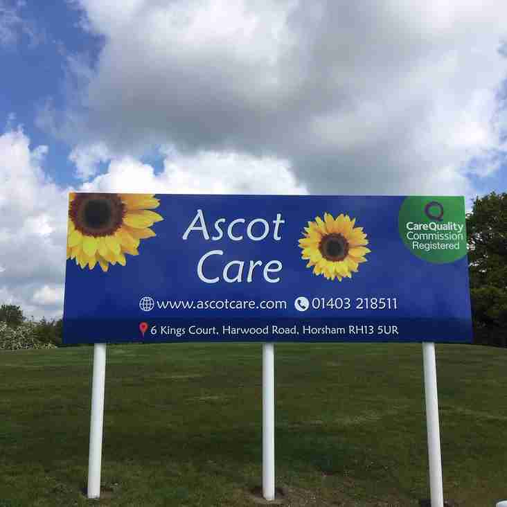 Ascot Care - new sponsor of Horsham Rugby Club