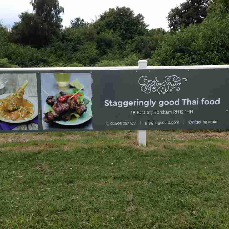 The Giggling Squid renew their sponsorship of Horsham Rugby Club