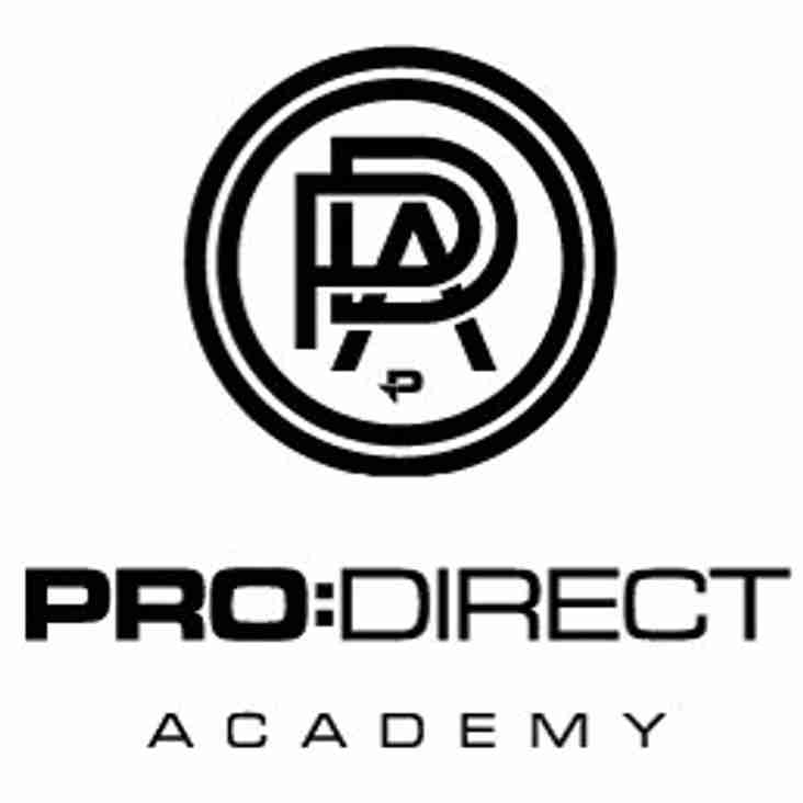 Eastwood CFC announce partnership with ProDirect Academy