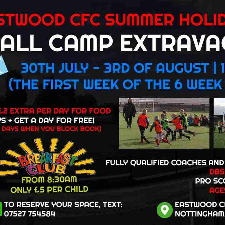 Football Camp EXTRAVAGANZA | At Eastwood CFC This 6-Week Holiday!