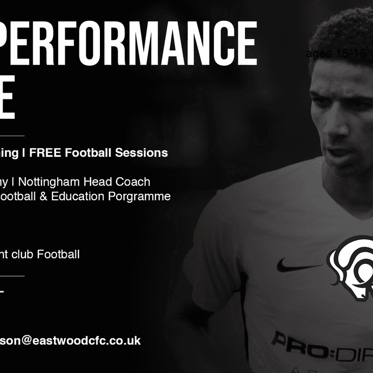 Elite Performance Centre to be coached by Derby County Coach