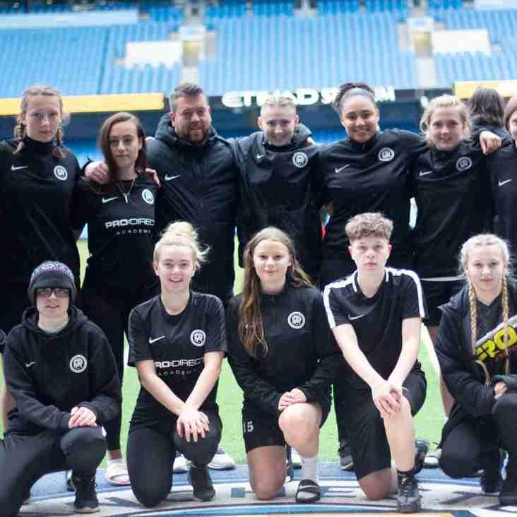PDA   Nottingham Girls Play On Etihad Stadium