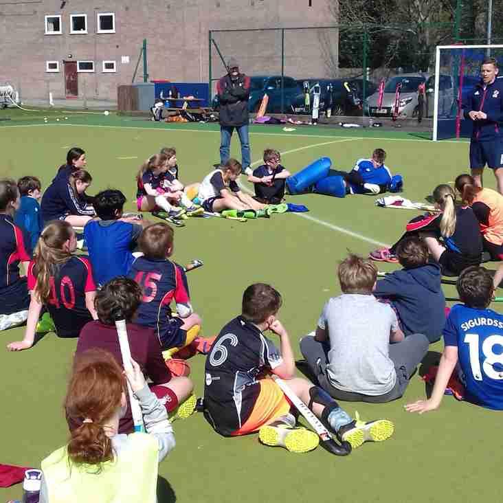 GB international visits Easter Camp