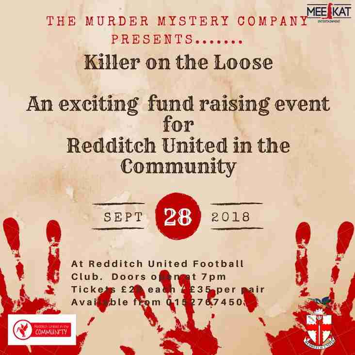 Murder mystery night coming to Redditch United!