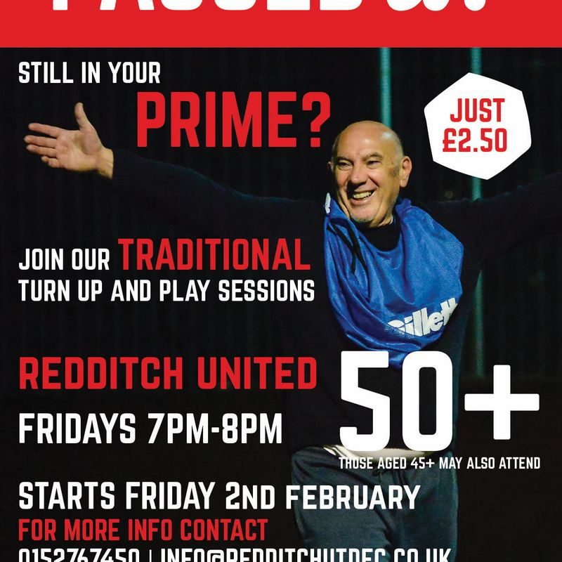 Passed it! Traditional football sessions for the over 50s at The TRICO