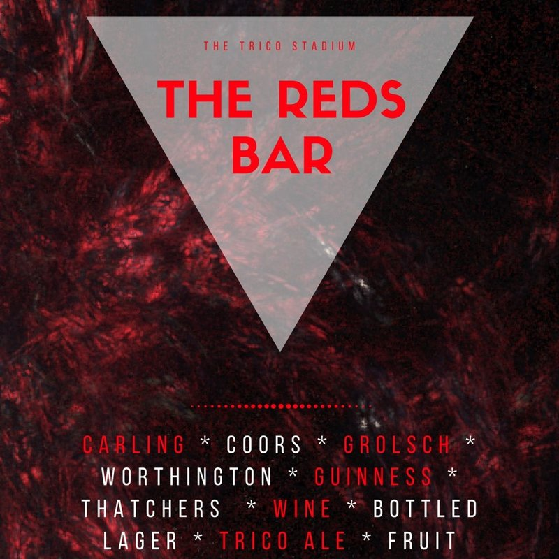 LIVE football at The Reds' Bar this weekend!