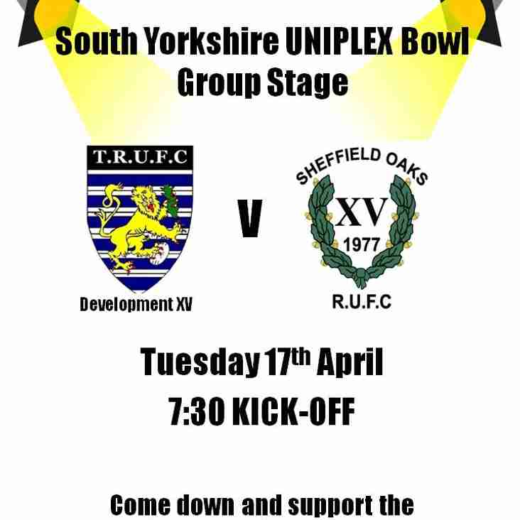 CHANGE OF DATE!!! Development v Sheffield Oaks (Cup)