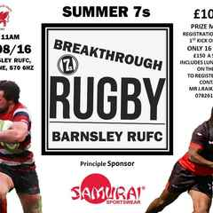 £1000 prize money for Breakthrough 7's at Shaw Lane