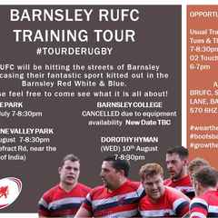 Barnsley RUFC Training Tour College event cancelled