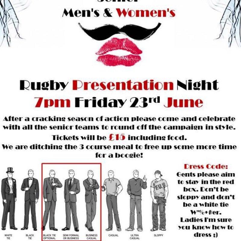 Senior Men & Womens Presentation Night
