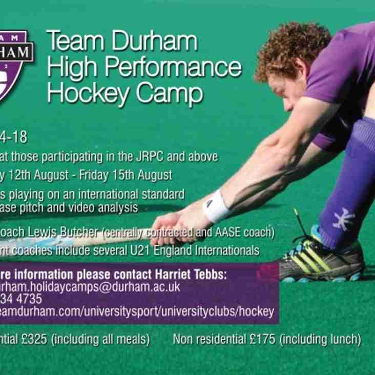 Team Durham High Performance Summer Hockey Camp
