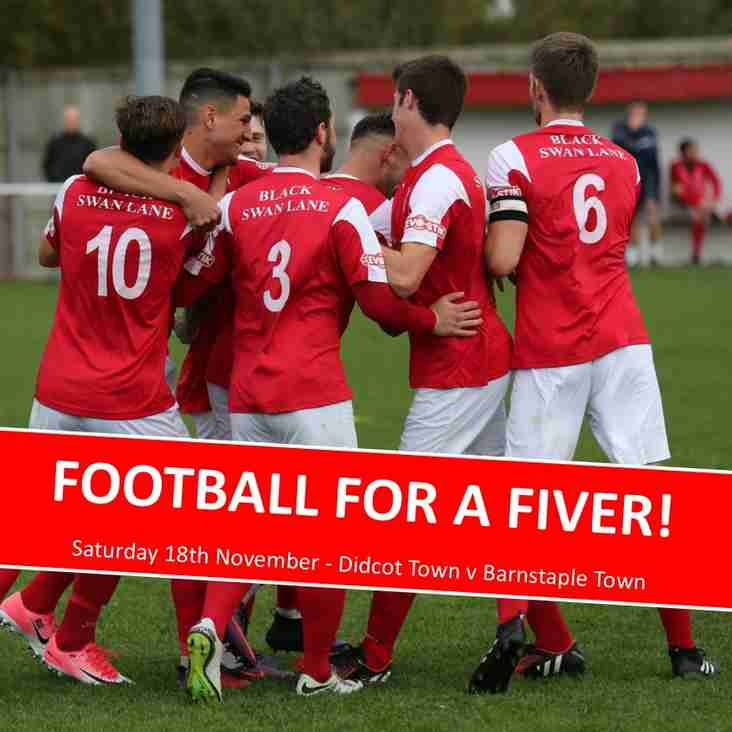 Football for a Fiver - Saturday!