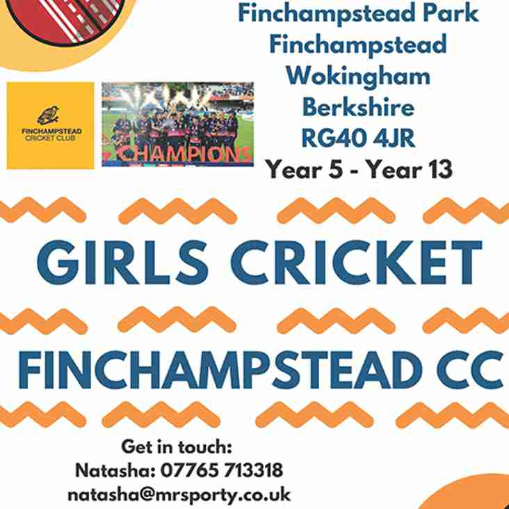 Girls Cricket - Monday's 6-8pm!