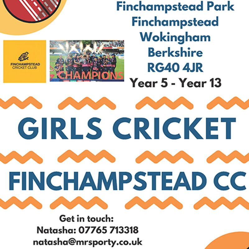 Girls Cricket - Monday's 6-8pm!