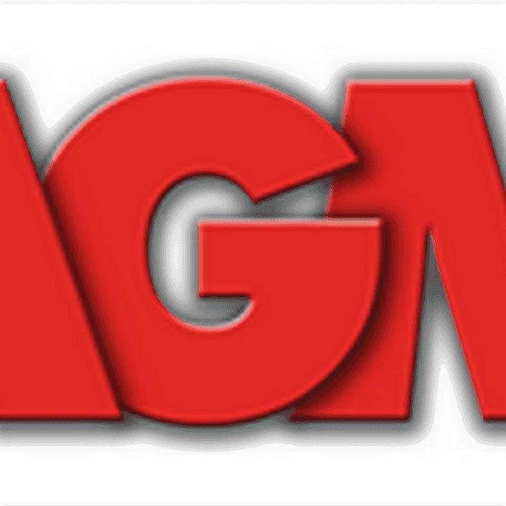 Club AGM - 5th November 2018