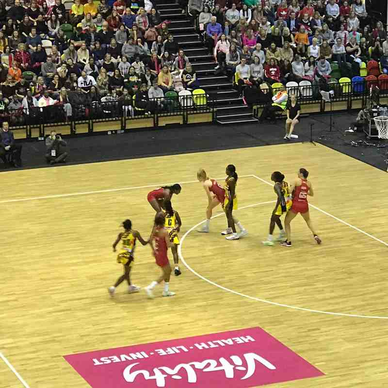 Swan Garnet Visit to watch England v Uganda