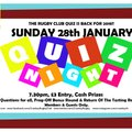 The Rugby Club Quiz Returns For 2018 - THIS SUNDAY 28th!!