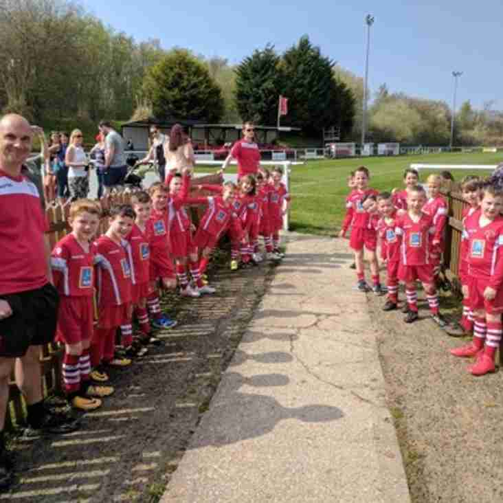 Buckley Town FC welcomed Buckley Town Juniors U/7s as mascots.