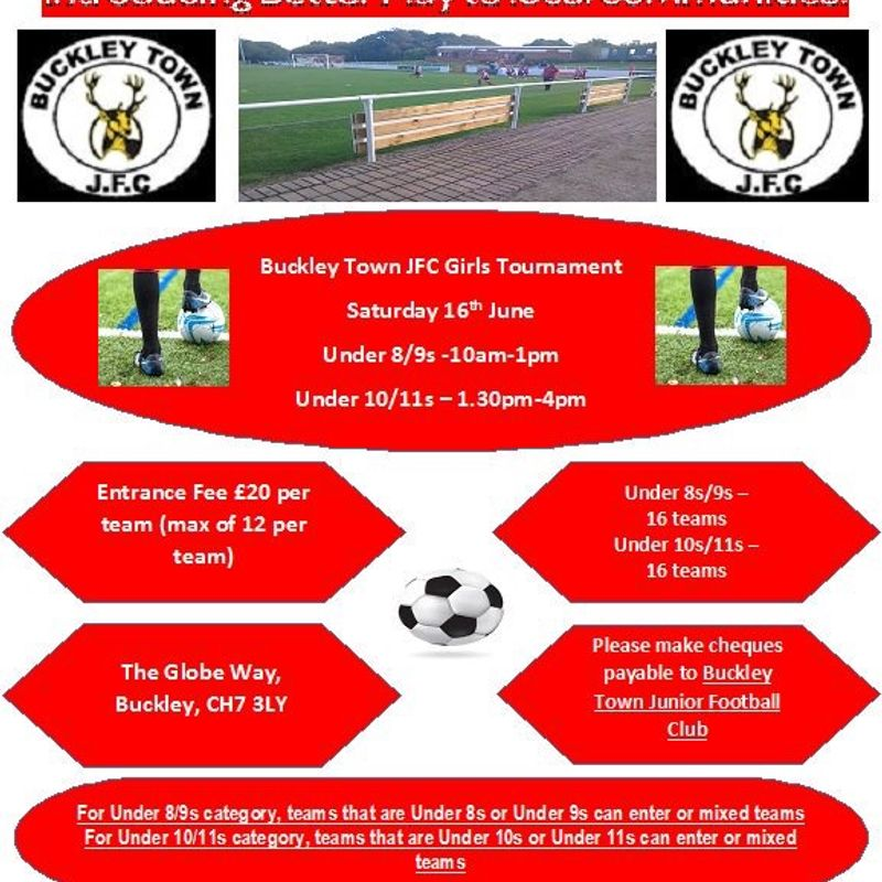 Buckley Town Junior FC Girls Tournament, Saturday 16th June