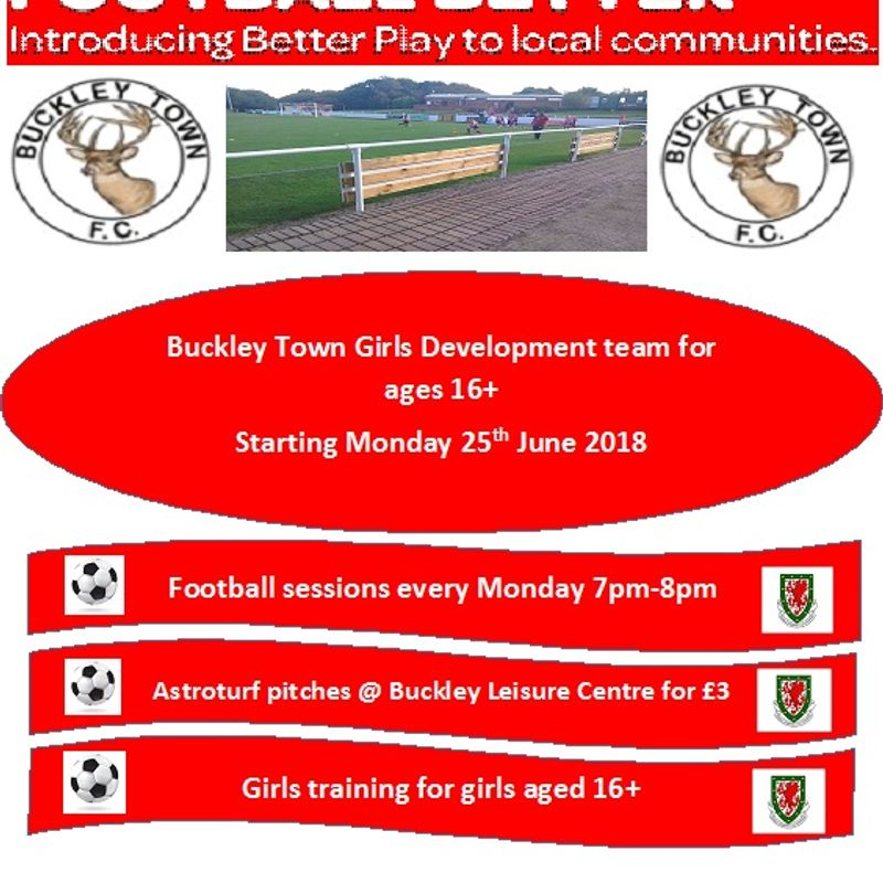 Exciting opportunity for girls/ladies aged 16+ to join Buckley Town FC