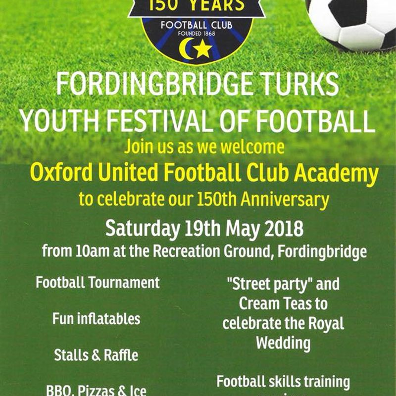 Fordingbridge Turks 150th Anniversary & Festival of Football 19th May 2018
