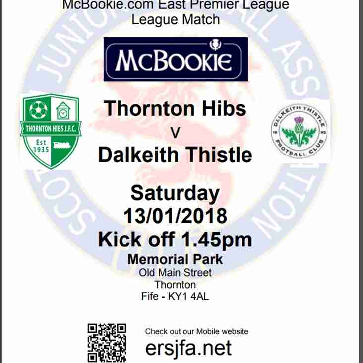 AWAY FIXTURE v Thornton Hibs
