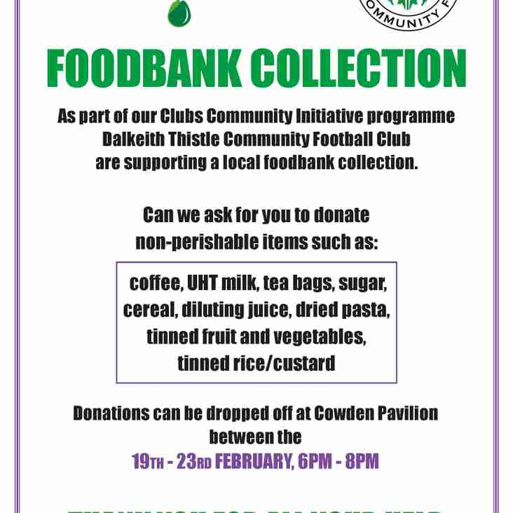 Dalkeith Thistle Community FC - Foodbank Collection