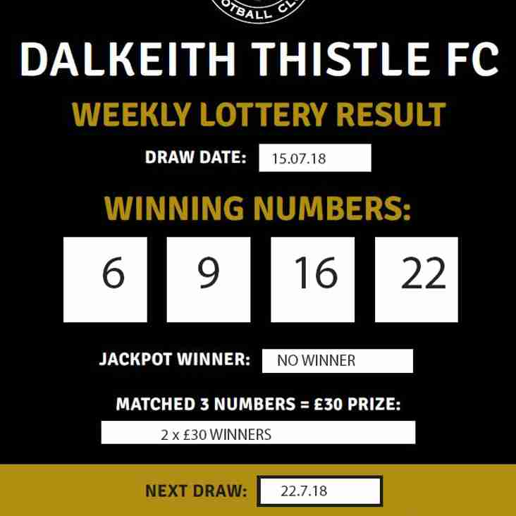 THISTLE LOTTERY - UPDATE