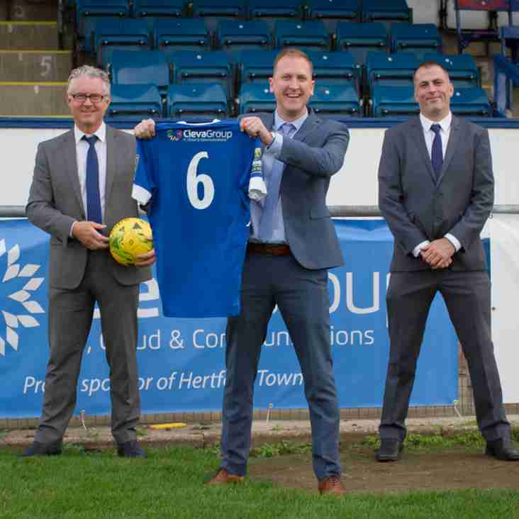 Hertford Town FC announce partnership with ClevaGroup