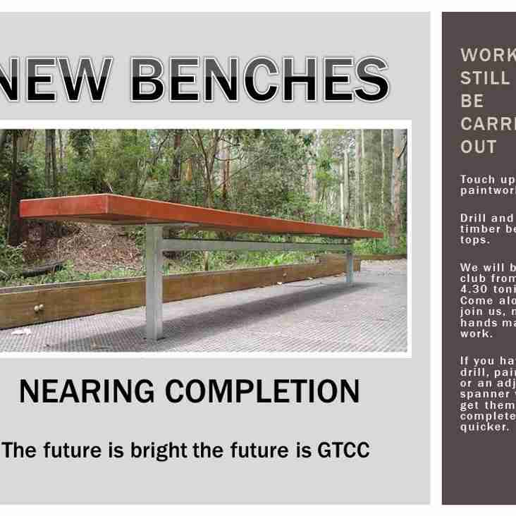 NEW BENCHES for GTCC