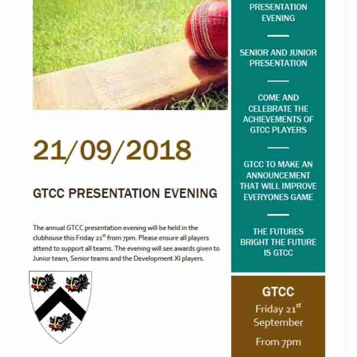 GTCC presentation evening 2018