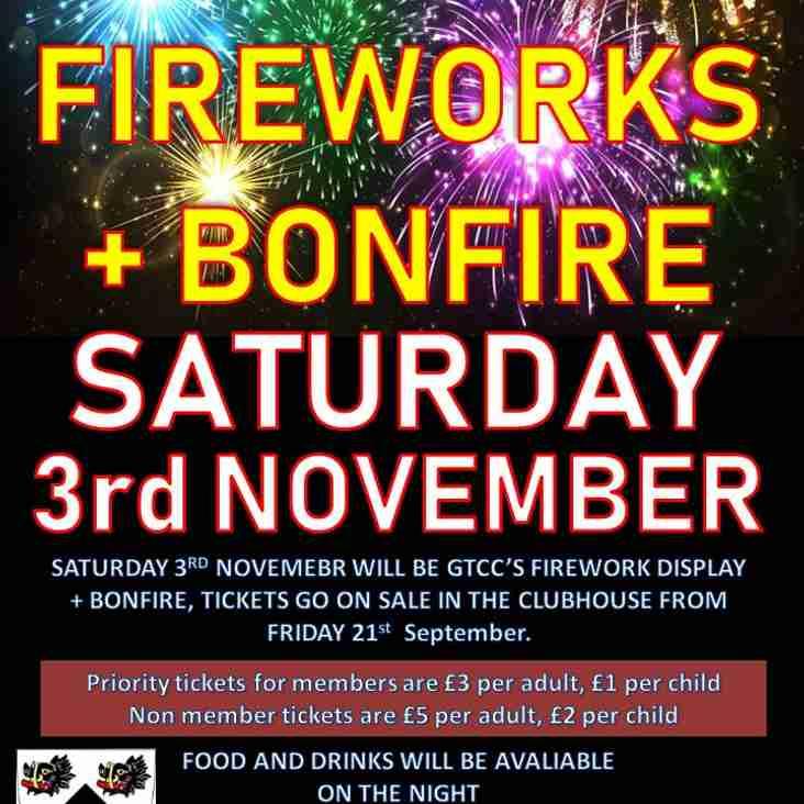 GTCC Bonfire and Fireworks Display