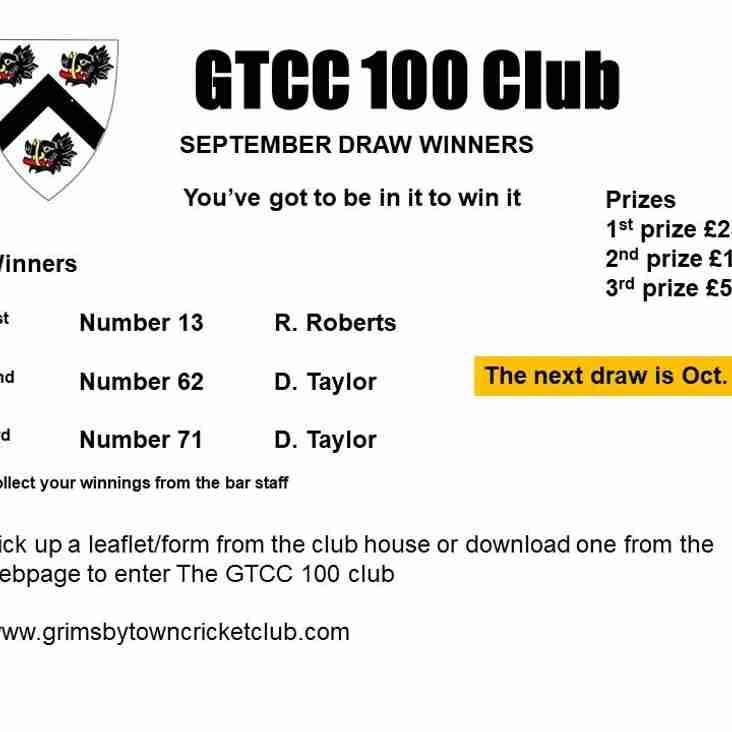 GTCC 100 September Draw