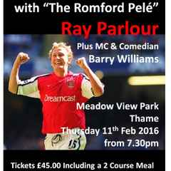 A Sporting Legends Dinner with Ray Parlour SOLD OUT