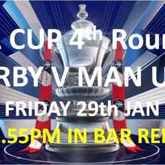 FA Cup 4th Round actions starts tonight with Derby v Man Utd in Bar Red