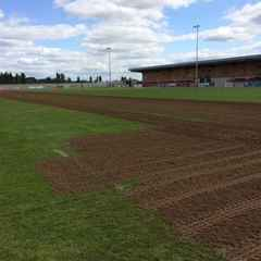 Stadium Pitch Maintenance started