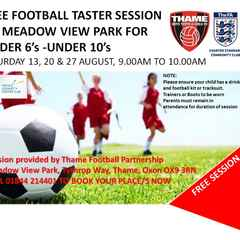 FREE Taster Sessions for 6-10 year olds at Meadow View Park in August